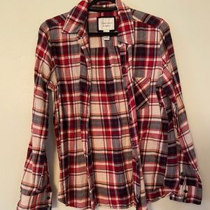 🌵4/$20 Forever 21 Red Plaid Button Down Shirt